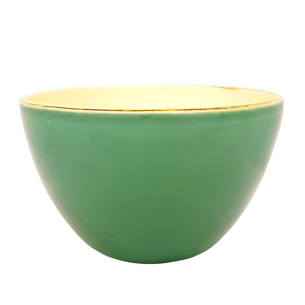 ferrum living gr n und form keramik salatschale dunkelgr n. Black Bedroom Furniture Sets. Home Design Ideas