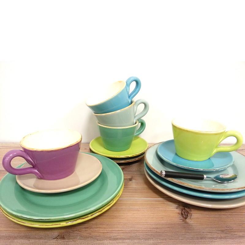 ferrum living gr n form keramik dessert untertassen teller dunkelgr n. Black Bedroom Furniture Sets. Home Design Ideas
