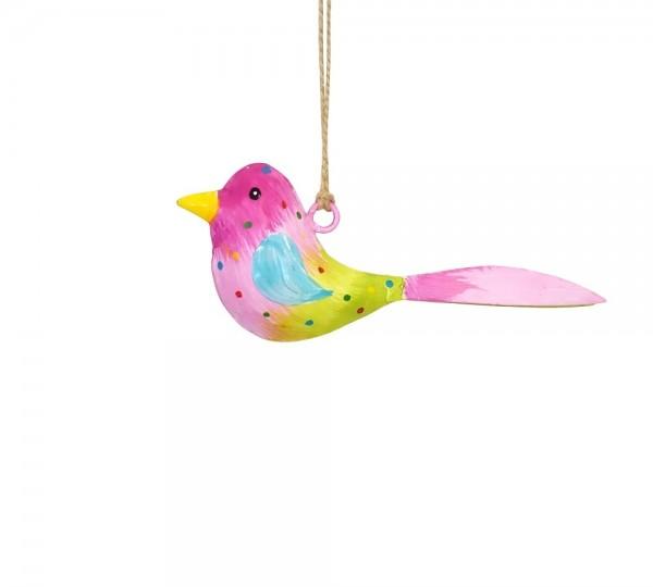 Metall Vogel bunt zum Hängen mini (103665)