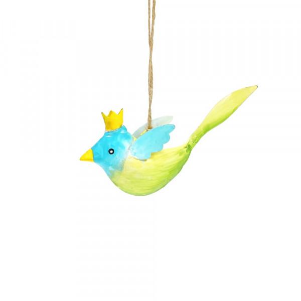 Metall Vogel mit Krone zum Aufhängen