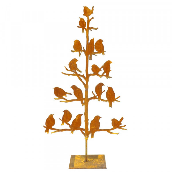 Edelrost Baum mit Vögeln