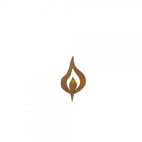 Rostige Kerzen Flamme H8 cm