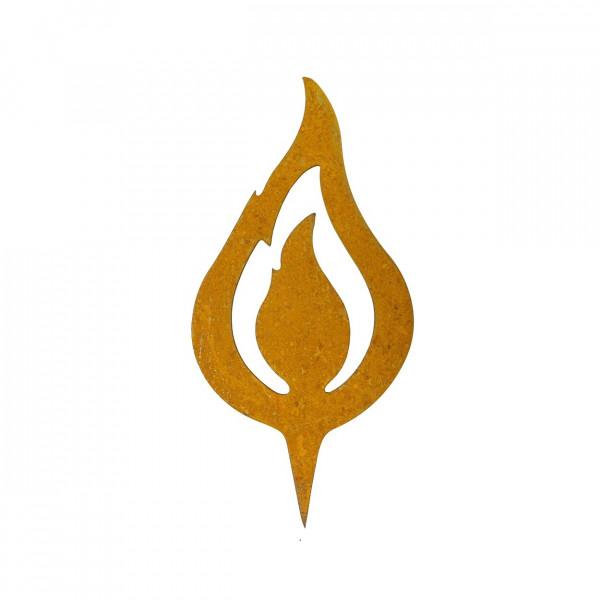 Edelrost Flamme zum Stecken