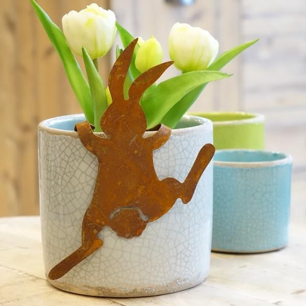 """Edelrost Hase """"Bunny"""" klein zum Einhängen"""