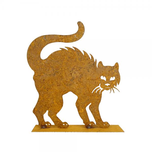 Edelrost Katze mit Buckel groß
