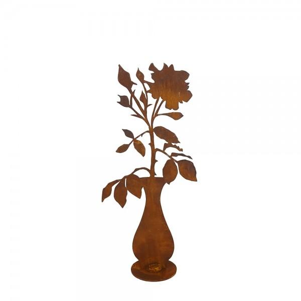 Edelrost Rosen Vase mittel H 40 cm