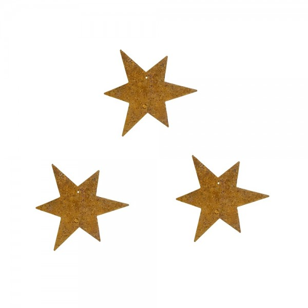 Edelrost Sterne mini 3er Set