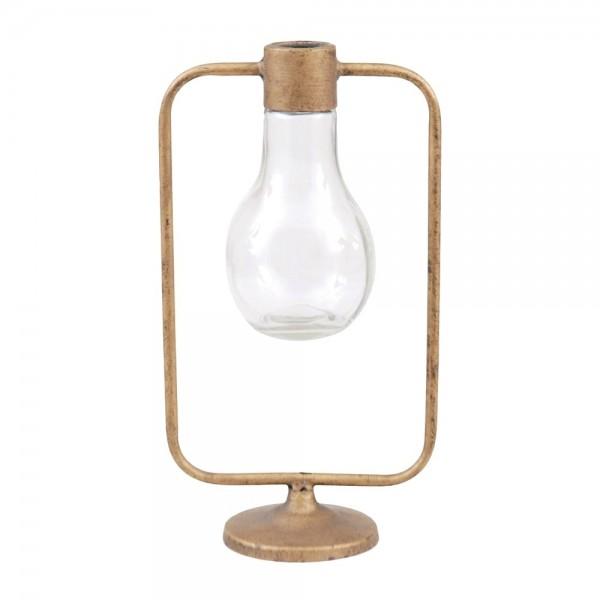 """Glas Vase """"Bulb"""" gold H30 cm"""