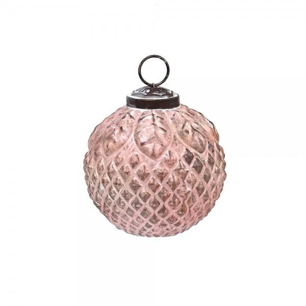 """Grün & Form Christbaumkugel """"Ornament"""" rosa Ø8 cm"""