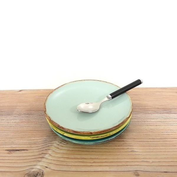 ferrum living gr n form keramik dessert untertassen teller aqua. Black Bedroom Furniture Sets. Home Design Ideas