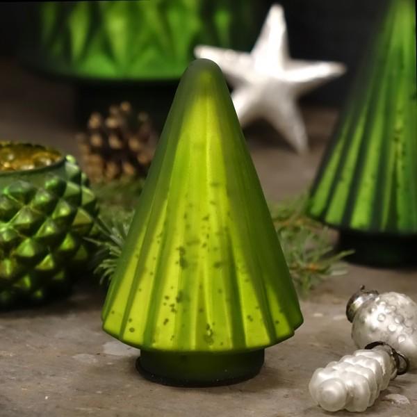 Grün & Form Glasbaum hellgrün klein H13 cm