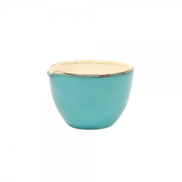 Grün und Form Keramik Schale mit Ausguss türkis