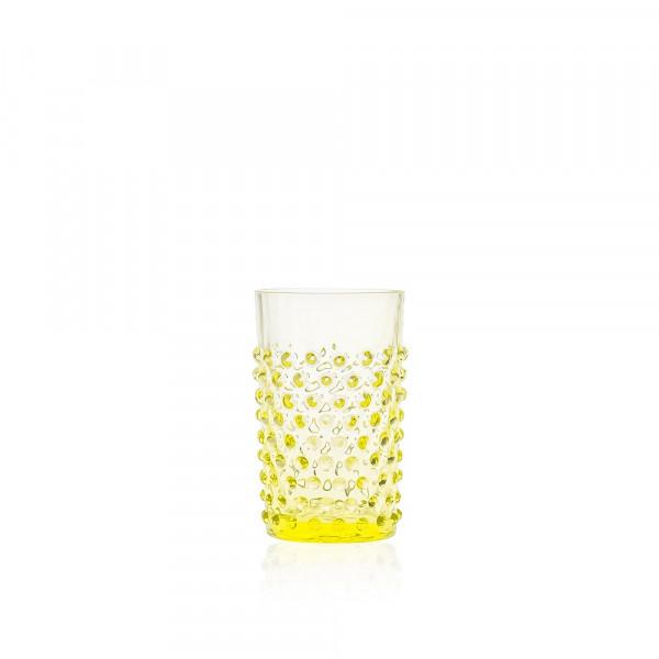 Hobnail Trinkglas Zitrone