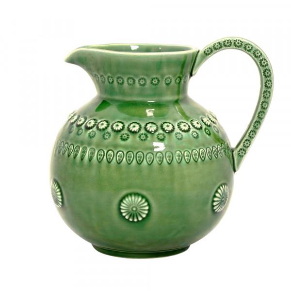 Keramik Kanne Daisy farngrün
