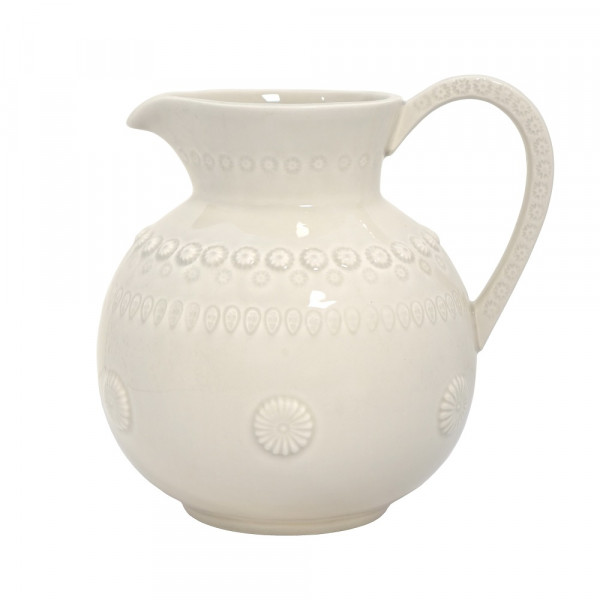 Keramik Kanne Daisy perlgrau