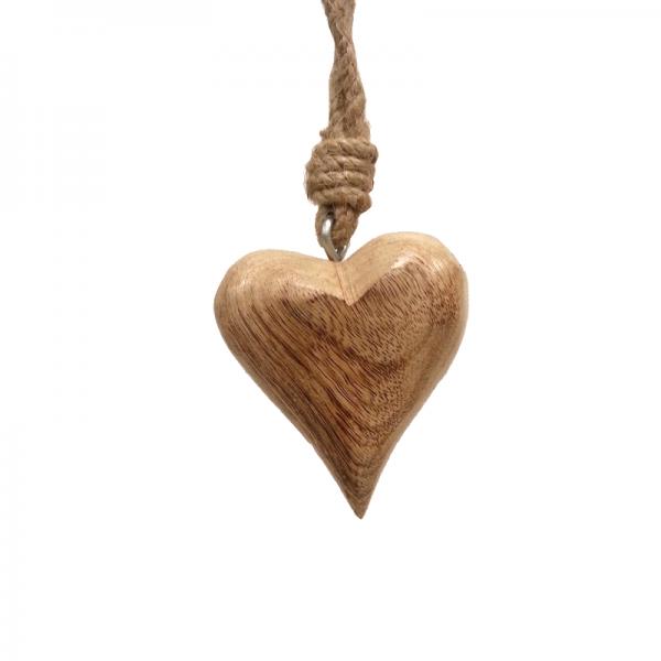 Holz Herz S natur