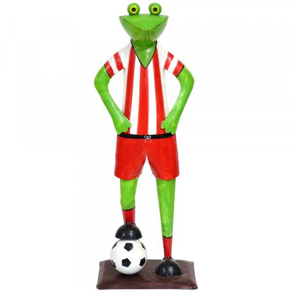 Metall Frosch mit Fußball