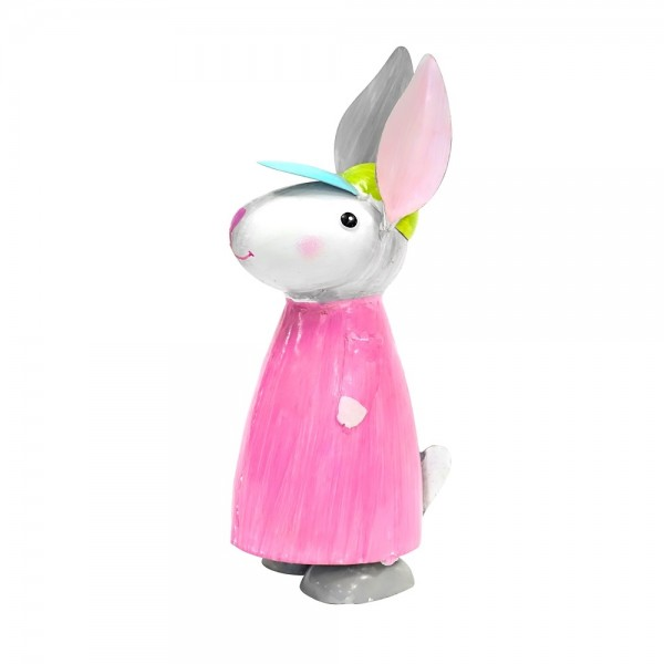 Metall Hase pink