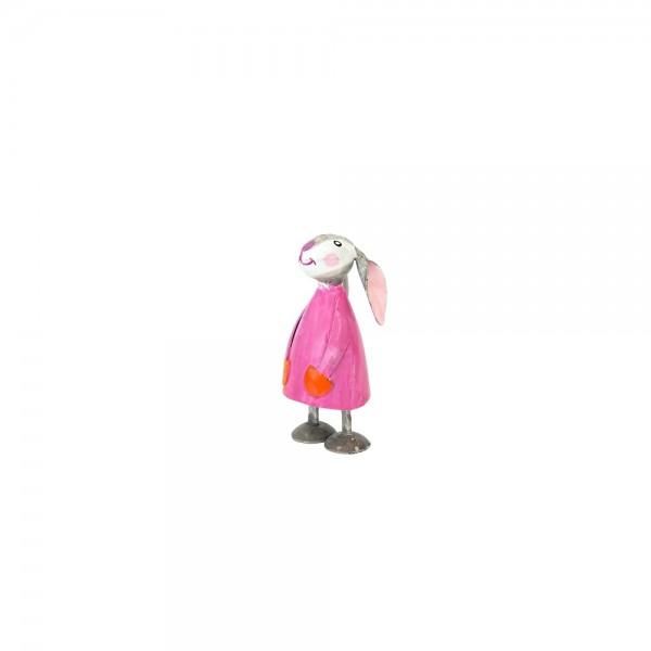 Mini Metall Osterhase Betty pink