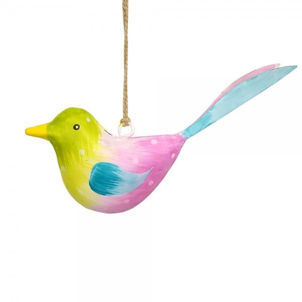 Metall Vogel bunt zum Hängen klein (103671)