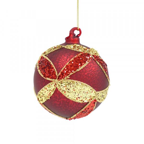 Rote Glas Weihnachtskugel von Shishi