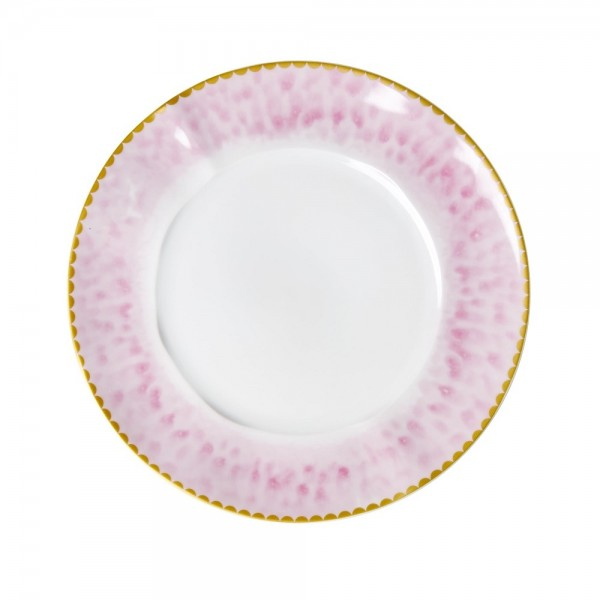 Rice Porzellan Kuchen Teller Glaze-Print Bubblegum Pink