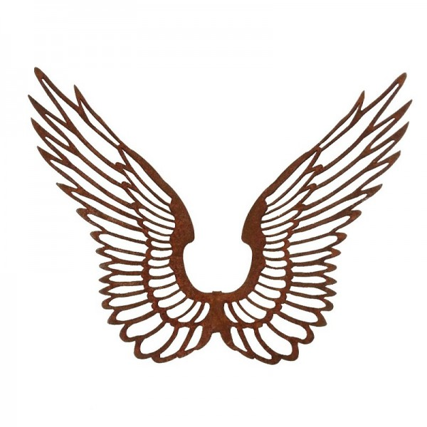Rostiger Engelsflügel filigran offen breit