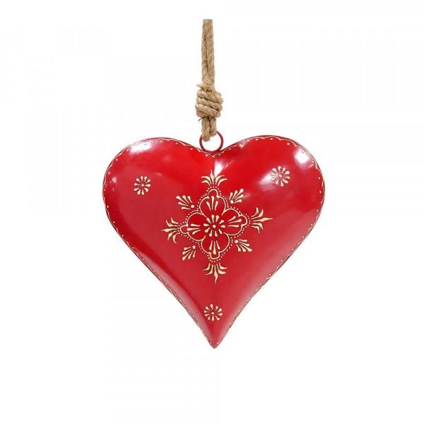Metall Herz rot zum Hängen