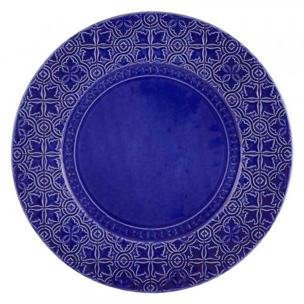 Portugiesischer Keramik Teller Rua Nova blau