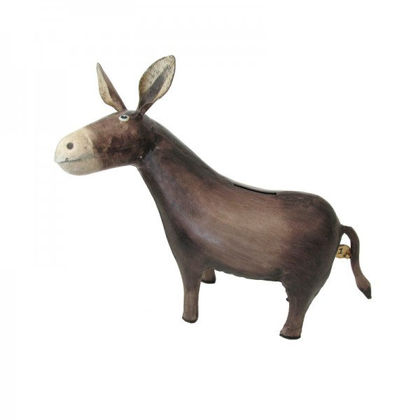 Ferrum living metall spardose esel for Tiere aus metall gartendeko