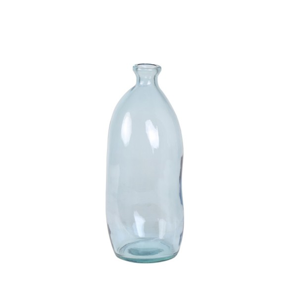 "Glas Flasche ""Abades"" schmal hellblau"