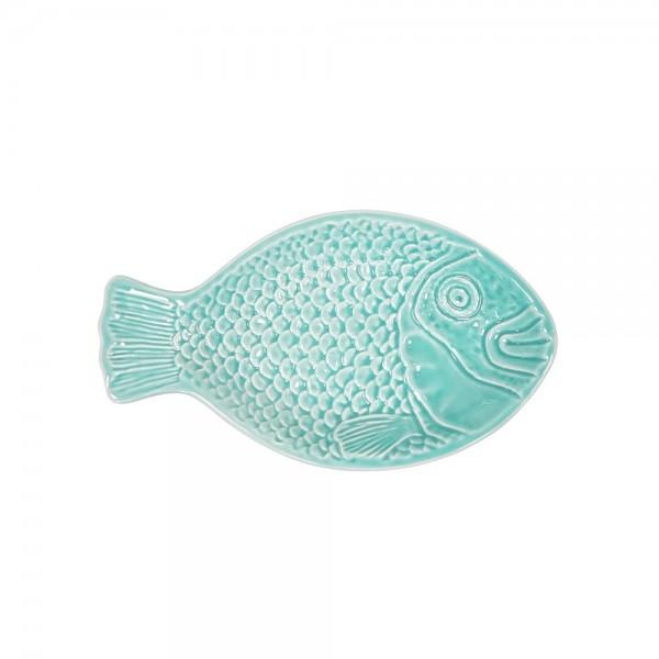 Vista Portuguese Keramik Fisch Relief Schale türkis