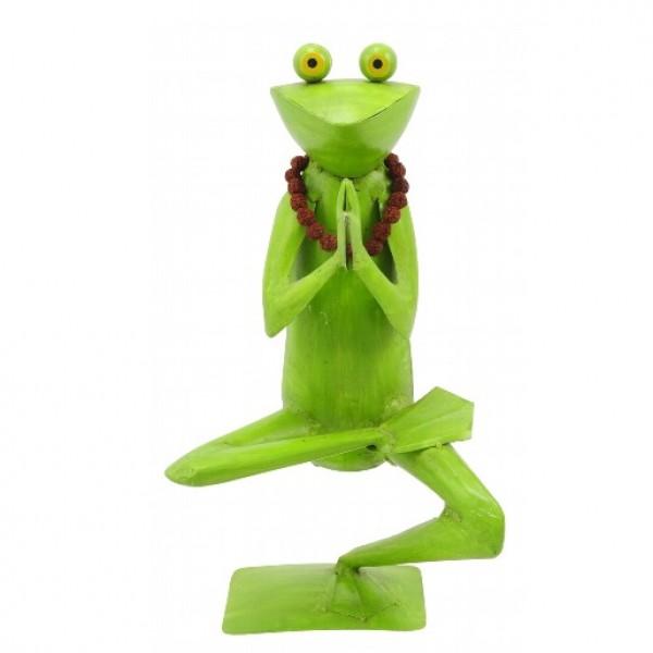 """Metall Frosch Yoga """"Baum"""""""