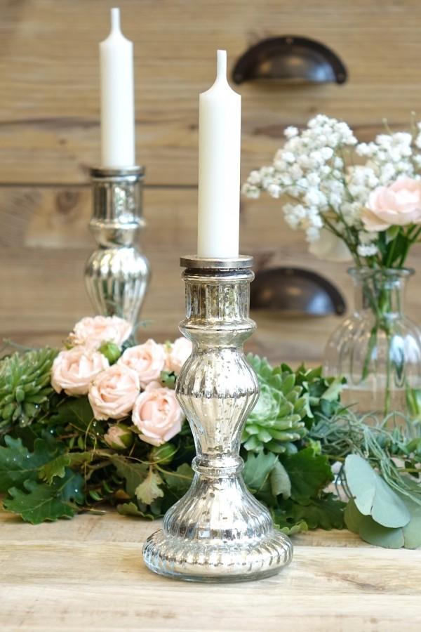 """Glas Kerzenständer """"Romance"""" mittel"""