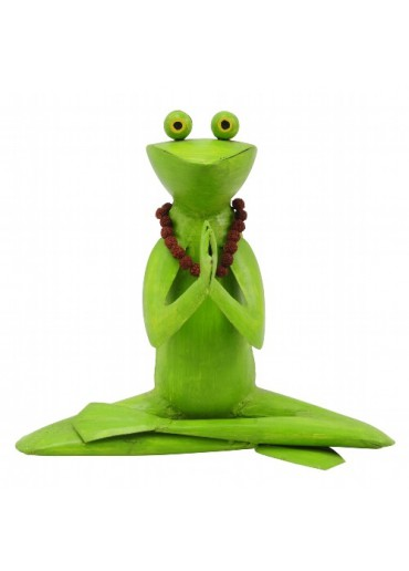 "Metall Frosch Yoga ""Lotus"""