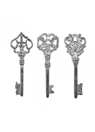 Alu vernickelte Schlüssel 3er Set