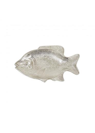 Silberner Alu Fisch Teller mittel