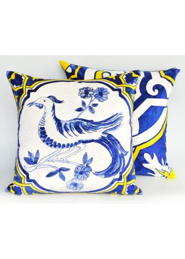 Amanda Dias Kissen mit Azulejo Motiv