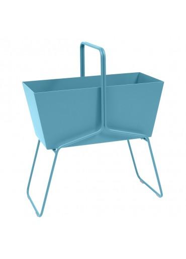 """Fermob """"Basket"""" Blumenkasten hoch Türkisblau"""