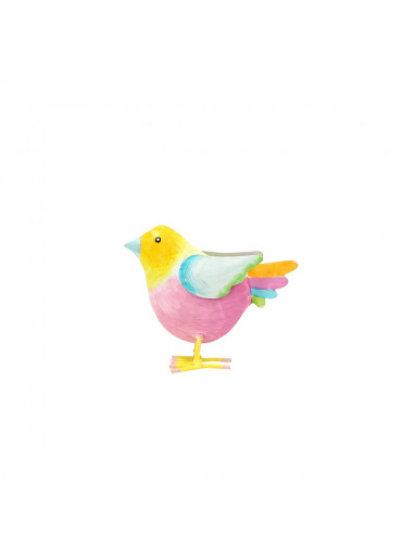 "Metall Vogelkind ""Rosi"" H 9 cm"
