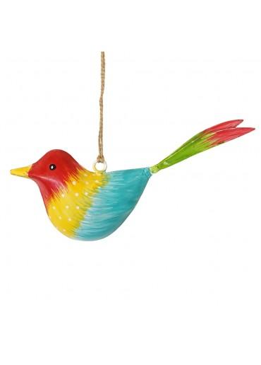 Metall Vogel bunt zum Hängen klein (103366)