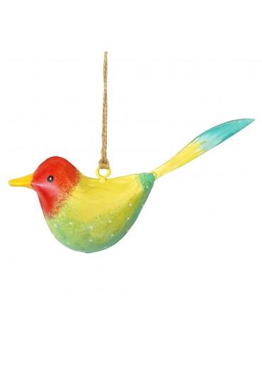 Metall Vogel bunt zum Hängen klein (103369)