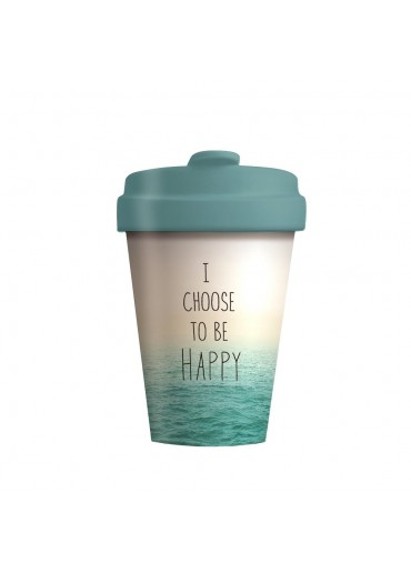 "Bamboo Cup ""Choose Happy"" Chic.Mic"