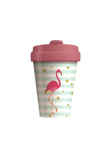 "Bamboo Cup ""Flamingo"" Chic.Mic"