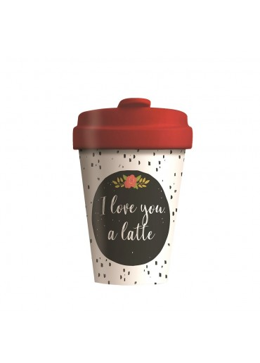 "Bamboo Cup ""Love You Latte"" Chic.Mic"