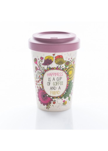 "Bamboo Cup ""Coffee Happiness"" Chic.Mic"