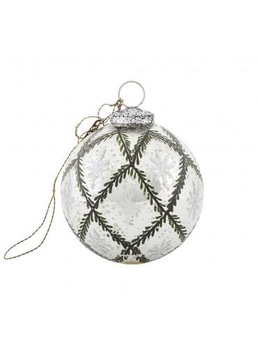 Christbaumkugel antik silber von Walther & Co