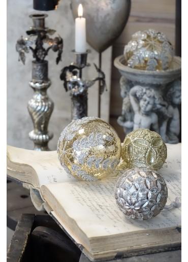 """Christbaum Kugel """"Charlène"""" L Champagner-Gold"""