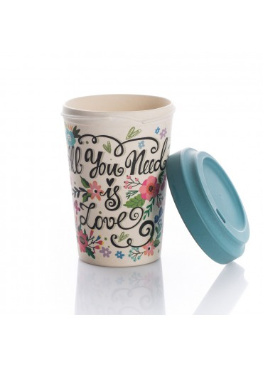 "Bamboo Cup ""All you need is Love"" Chic.Mic"