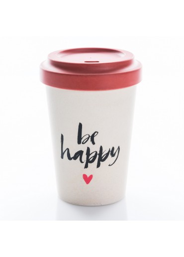 "Bamboo Cup ""Be Happy"" Chic.Mic"